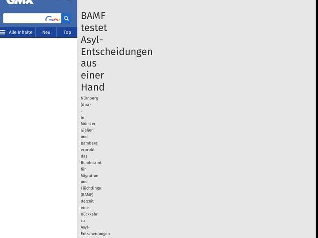 BAMF testet Asyl-Entscheidungen aus einer Hand