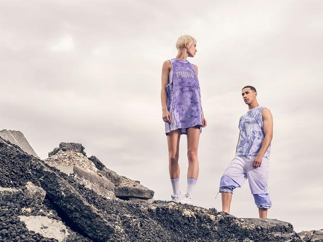 Futuristische nachhaltige Mode mit Algenkleidern und Pilz-Sneakers
