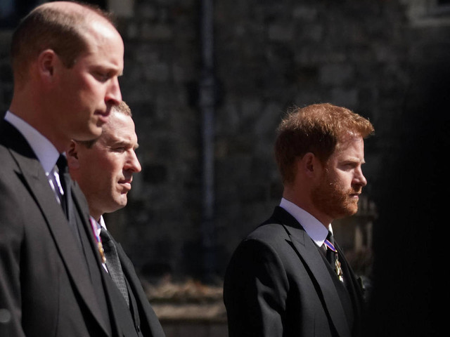 Prinz Philips Trauerfeier: Das sagte Prinz Harry zu Prinz William