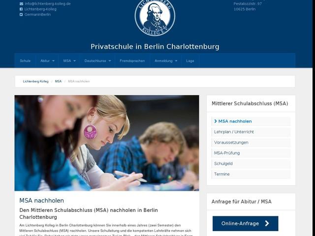 Berlin-Charlottenburg - MSA nachholen innerhalb eines Jahres