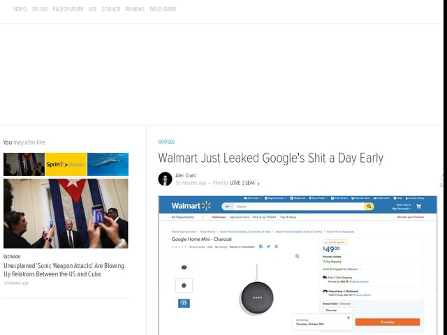 Walmart Just Leaked Google's Shit a Day Early