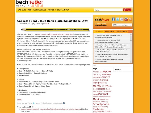 Gadgets | STAEDTLER Noris digital Smartphone-Stift