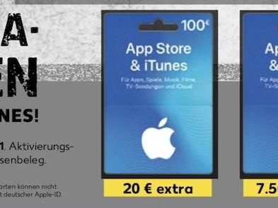 iTunes Karten günstiger: bis zu 20 Prozent Bonus bei Kaufland