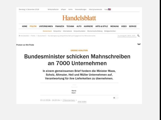 Große Koalition Bundesminister Schicken Mahnschreiben An 7000
