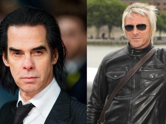 Was für ein Zufall: Nick Cave und Paul Weller treffen sich auf trister Tankstelle