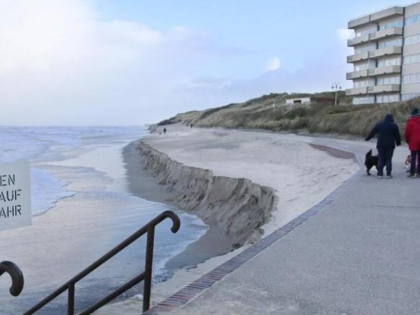 Sturmfluten: Badestrand auf Wangerooge fast komplett weggespült