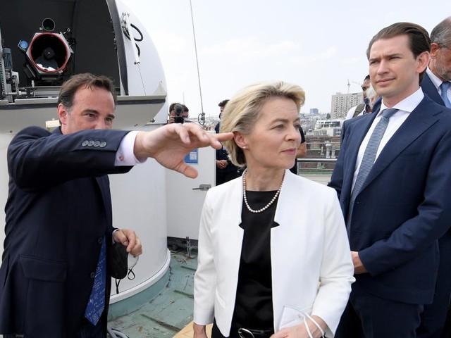 """Ursula von der Leyen in Wien : """"Grünes Licht für Österreich-Aufbauplan"""""""