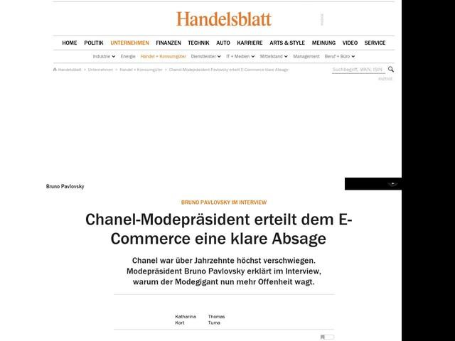 Bruno Pavlovsky im Interview: Chanel-Modepräsident erteilt dem E-Commerce eine klare Absage