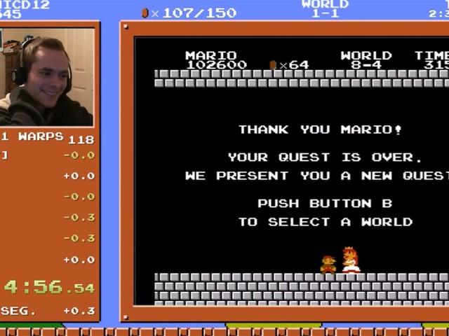 Neuer Rekord im Super Mario Bros.-Schnellspielen
