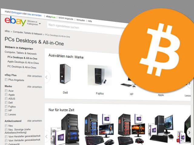 """Ebay """"erwägt ernsthaft"""", Bitcoin als Zahlungsmittel zu akzeptieren"""