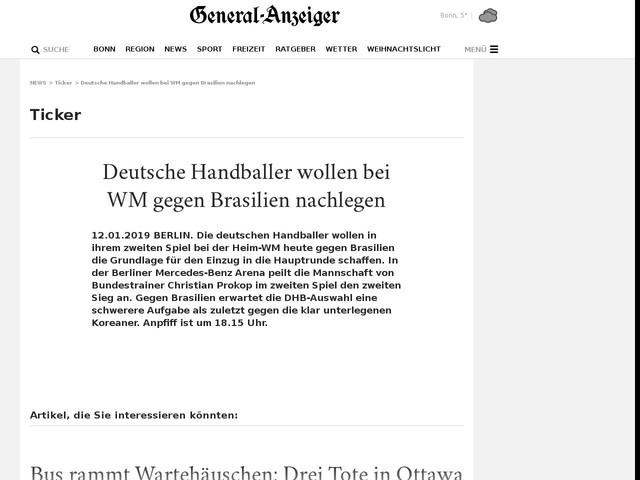 Deutsche Handballer wollen bei WM gegen Brasilien nachlegen