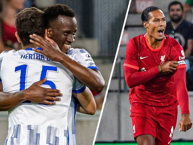Jovetic schießt Hertha zum Test-Sieg über Liverpool - van Dijk feiert Comeback