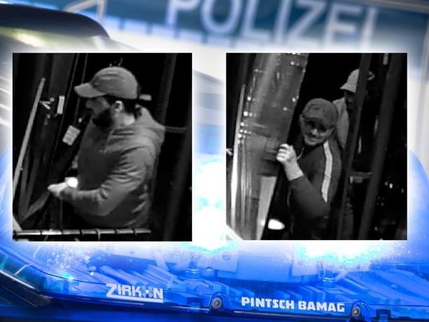 Fahndung: Mit Auto in Geschäft gefahren: Verdächtige mit Fotos gesucht