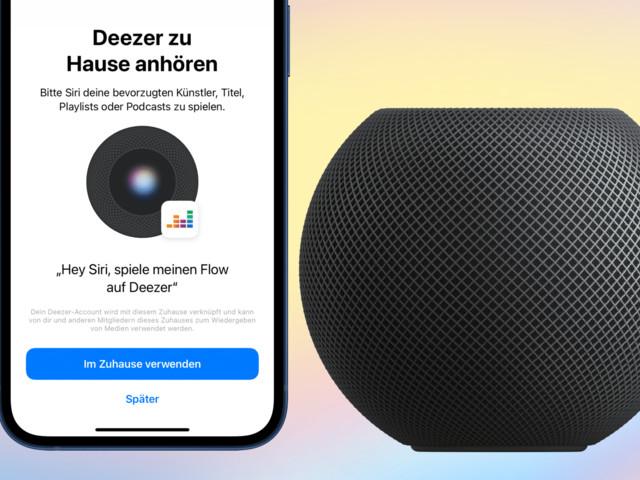 Deezer auf dem Apple HomePod streamen, ab sofort möglich
