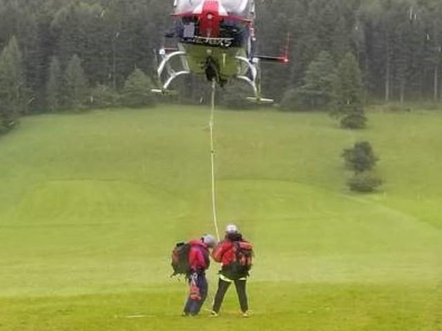 80-Jähriger nach Sturz auf Schneeberg am Tau gerettet