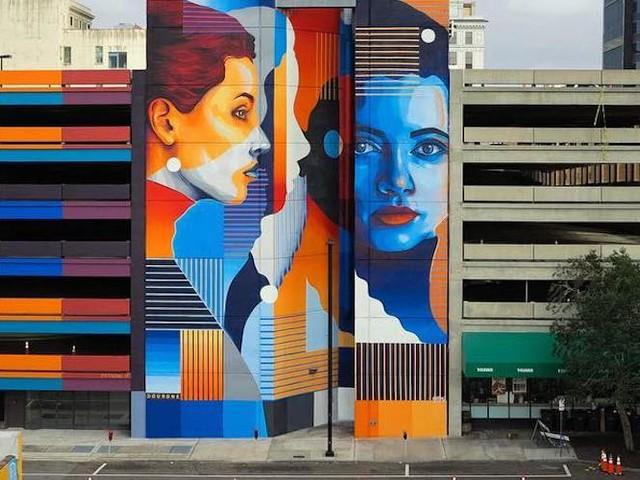 """""""Truth Has No Form"""" – Street Art-Duo Dourone mit gigantischem Mural in Jacksonville // Florida"""