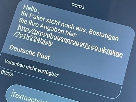 Spam - Falsche Paket-SMS: Hohe Rechnungen nicht voreilig bezahlen