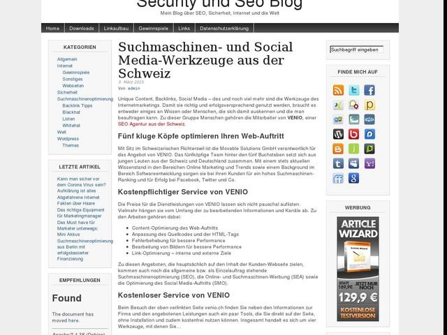 Suchmaschinen- und Social Media-Werkzeuge aus der Schweiz