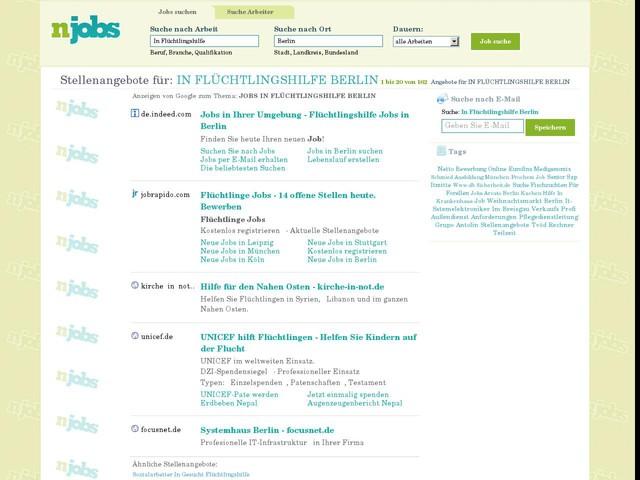 Jobs In Flüchtlingshilfe Berlin, Stellenangebote In Flüchtlingshilfe Berlin, Arbeit In Flüchtlingshilfe Berlin
