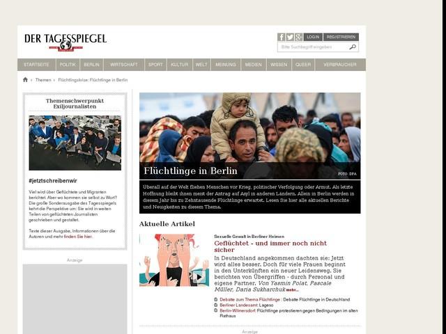 Flüchtlingskrise: Flüchtlinge in Berlin