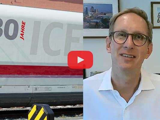 """""""Die Sehnsucht, sich persönlich zu treffen, ist da."""" Bahn-Sprecher Jens-Oliver Voß über 30 Jahre ICE."""