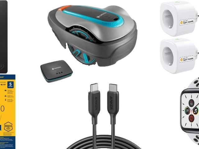 Amazon Blitzangebote: Rabatt auf 2TB + 5TB ext. Festplatte, Gardena Smart System, Apple Watch Sportarmband, HomeKit-Kameras & -Steckdosen und mehr