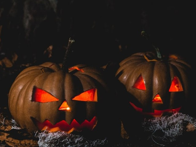 Kreatives Ghostbusters Halloween Video Mapping auf dem Eigenheim