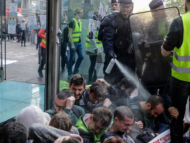 Entrüstung über Polizeieinsatz gegen Klimaaktivisten in Frankreich