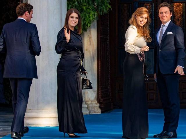 Prinz Philippos heiratet Nina Flohr: Glamouröser Auftritt: Eugenie und Beatrice besuchen Hochzeit in Athen