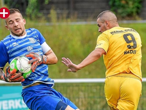 Fussball - Westfalenliga: Xhino Kadiu erlöst den DSC Wanne-Eickel im Derby in Sodingen