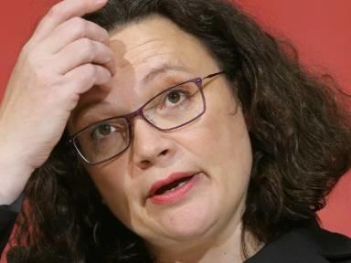 Nahles kündigt Rücktritt als Partei- und Fraktionschefin der SPD an