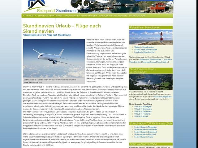 Flüge Skandinavien Flug Urlaub Skandinavien