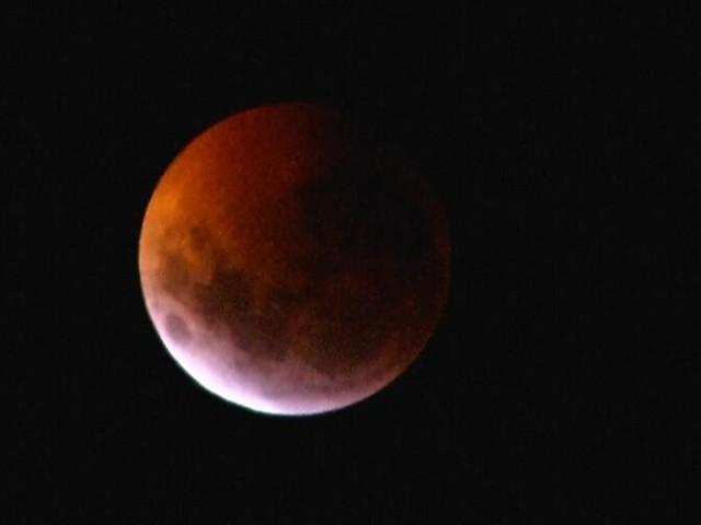 Super-, Blut- oder Wolfsmond: Weltweit bestaunten Menschen den Himmel