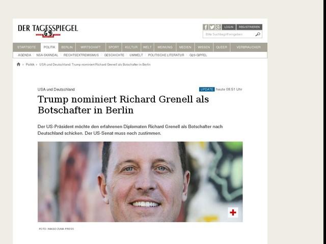Trump nominiert Richard Grenell als Botschafter in Berlin