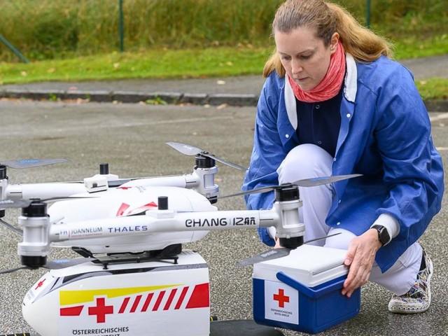 Drohne transportierte Blutkonserve