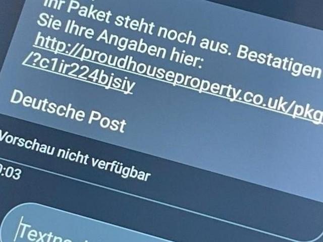 Falsche Paket-SMS: Hohe Rechnungen nicht voreilig bezahlen