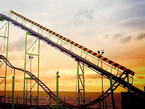 Blackpool South Pier eröffnet 2018 Dreh-Achterbahn: Neuheit bereits im Aufbau