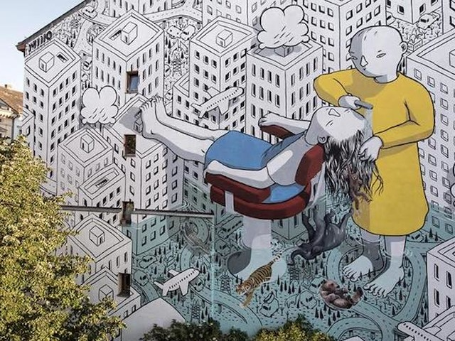 """My head is a jungle"" – Street Artist Millo spendiert Berlin ein großartiges Mural"