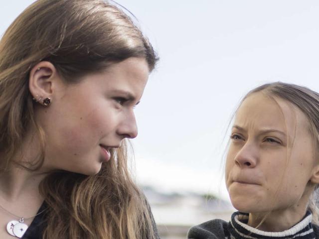 Als Luisa Neubauer spricht, schüttelt Greta Thunberg heftig den Kopf - Krach bei den Klima-Aktivistinnen?