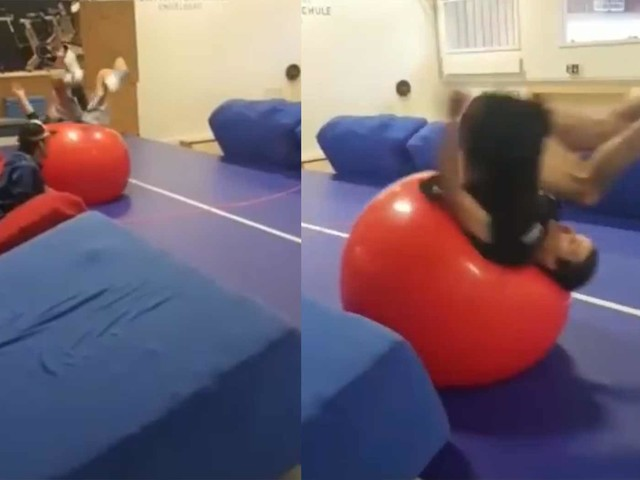 Kusselkopf-Gymnastikball-Pong