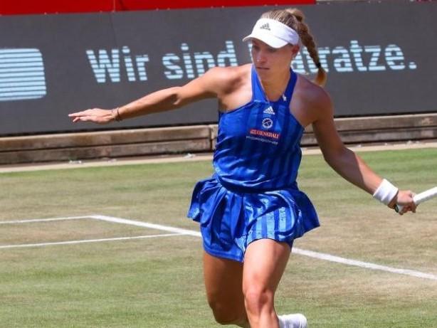 WTA-Turnier: Kurz vor Wimbledon: Kerber im Viertelfinale von Bad Homburg