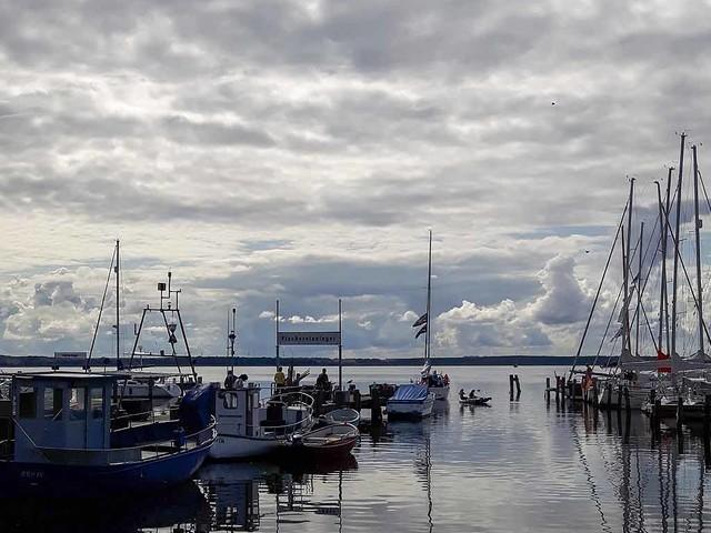 Schnappschüsse und ein Aquarell aus dem Hafen Rerik