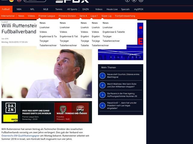 Fussball International: Ruttensteiner verlängert in Israel