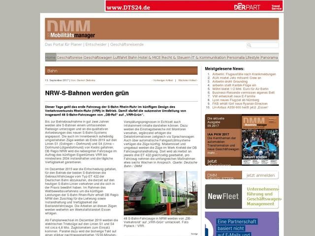 NRW-S-Bahnen werden grün