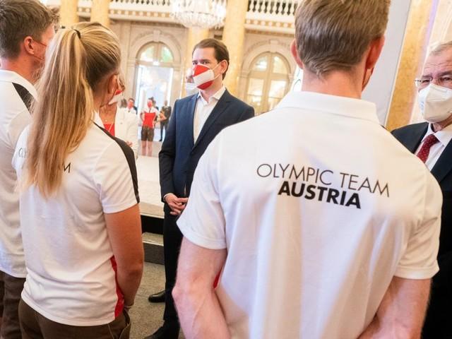Van der Bellen, Kurz und Kogler verabschiedeten Österreichs Olympia-Starter