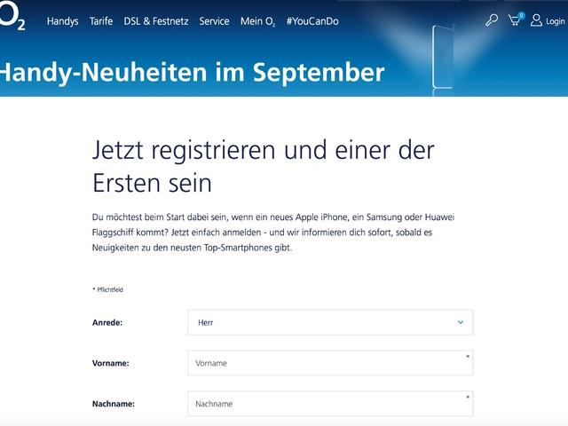 """iPhone 8: o2 startet Vorregistrierung für """"Top-Smartphones"""""""