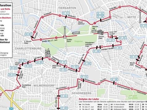 Heute gehört die Stadt den Läufern und Rollstuhl-Sportlern