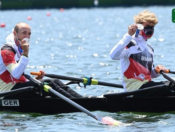 Olympia 2021: Für Ruderer Rommelmann und Osborne ist Silber wie Gold