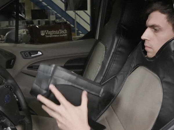 Ford Funded That Weirdo in a Car Seat Costume Who Pretended to Be a Self-Driving Car