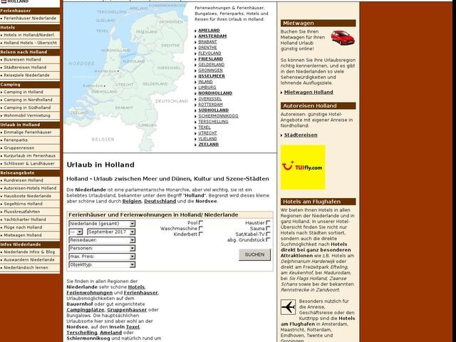 Urlaub in Holland: Ferienhäuser Hotels Ferienparks, Ferienhaus Ferienwohnung Niederlande